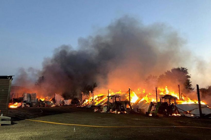 Fire destroys 60-year-old show staging