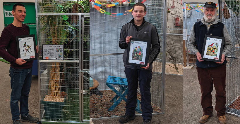 Themed aviaries are a hit with the public at annual Stafford show